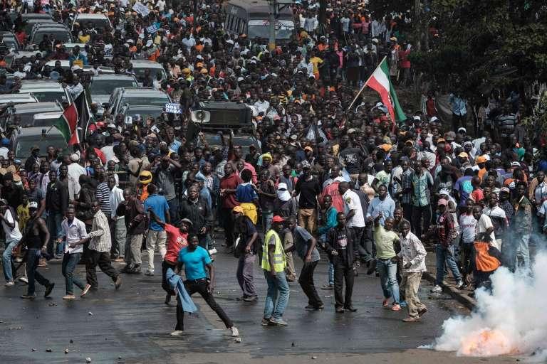Lors des manifestations de soutien à l'opposition le 17 novembre à Nairobi
