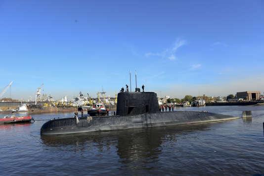 Le sous-marin argentin «San-Juan», en 2014.