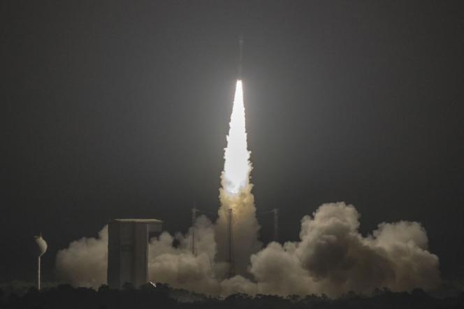 A Kourou, lancement de la fusée Vega qui a mis en orbite le satellite Mohammed-VI A le 8 novembre 2017.
