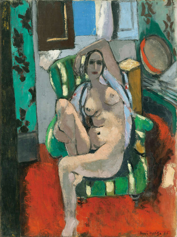 «Odalisque au tambourin» (1925-26), d'Henri Matisse (1869-1954), huile sur toile.
