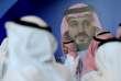 Affiche montrant le prince héritier Mohamed Ben Salmanlors du «MiSK Global Forum», à Riyad, le 15 novembre.