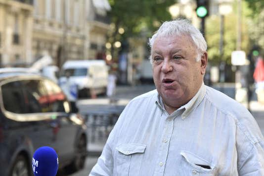 Gérard Filoche, membre du bureau national du PS, le 20 juin à Paris.