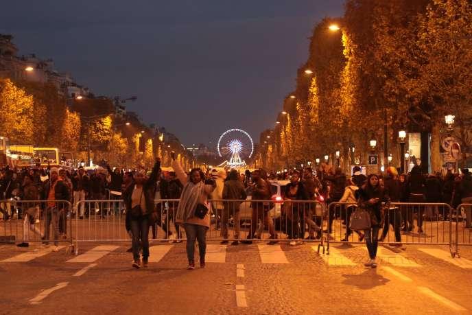 Rassemblement contre l'esclavage en Libye, samedi 18 novembre, à Paris.