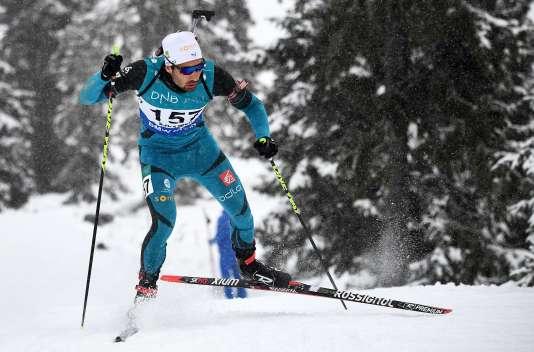 Martin Fourcade s'est rassuré en remportant le sprint lors des sélections norvégiennes à Sjusjoen, avant la Coupe du monde en Suède le 26 novembre 2017.