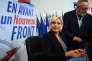 Marine Le Pen, présidente du Front national, lors d'une visite à la fédération du Vaucluse de son parti, à Carpentras, le 8 novembre.