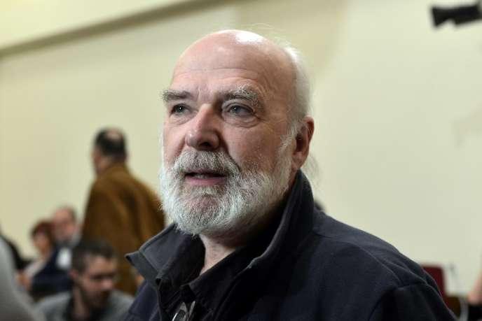 Eric Toussaint,porte-parole du Comité pour l'abolition des dettes illégitimes, à Athènes, en mars 2015.