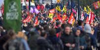 Mobilisation syndicale contre la loi travail, le 16 novembre, à Nantes.