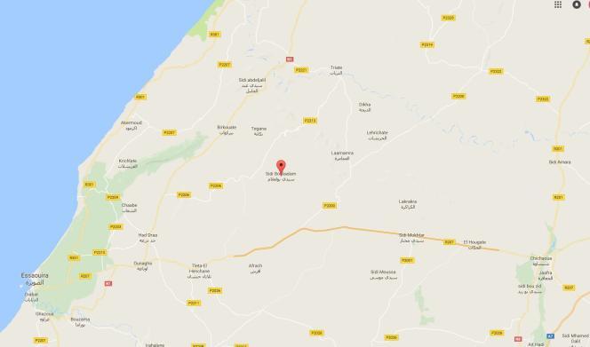 Sidi Boulaalam, bourgade de 8 000 habitants, au nord-est d'Essaouira au Maroc.