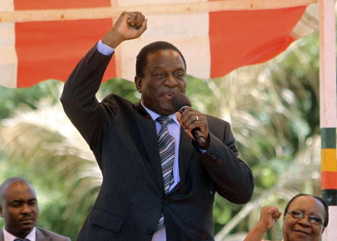 Le vice-président zimbabwéen, Emmerson Mnangagwa, à Harare le 19 novembre.