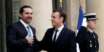 Saad Hariri, reçu par Emmanuel Macron à l'Elysée, le 18 novembre.