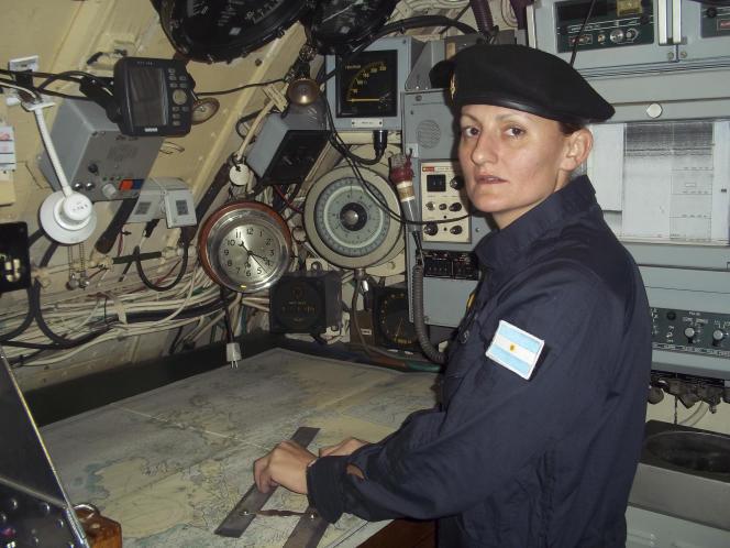 Eliana Krawczyk, 35 ans, la première femme sous-marinière d'Amérique du Sud, fait partie des disparus.