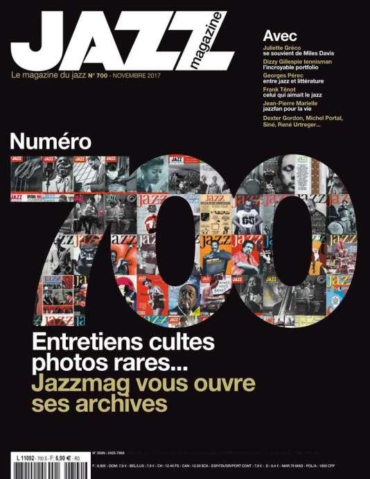Couverture du numéro 700 de« Jazz Magazine».