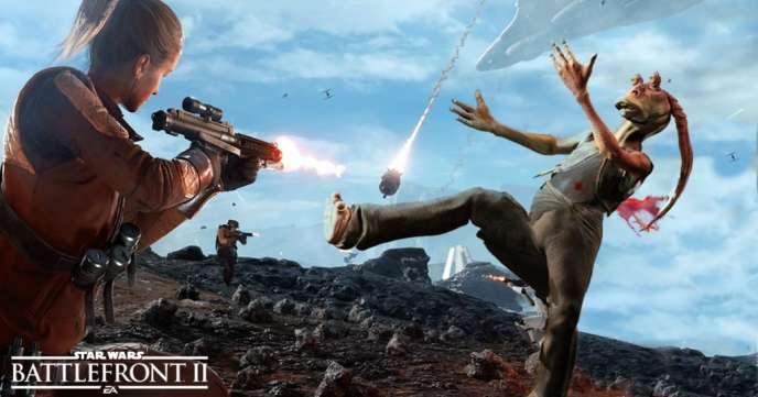 Jar-Jar Binks, personnage le plus impopulaire de «Star Wars», dans le jeu vidéo «Star Wars» le plus impopulaire.