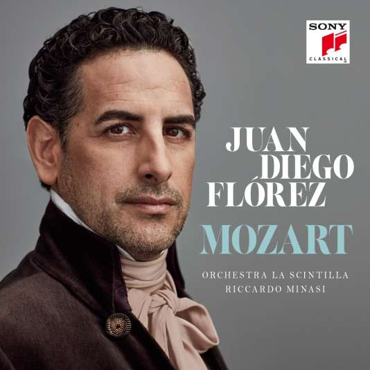 Pochette de l'album« Mozart», deJuan Diego Florez avec l'Orchestra La Scintilla, Riccardo Minasi (direction).
