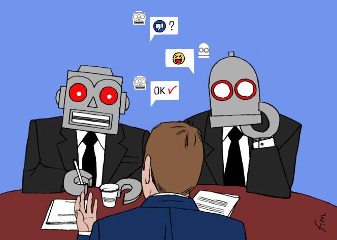 « Ces nouveaux assistants en ressources humaines (RH), qui sont en fait des agents conversationnels,sont prêts à répondre aux questions des candidats et à leur donner un coup de main, 24 heures sur 24 et 7 jours sur7.»