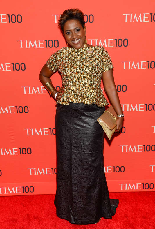 Ory Okolloh arrives at the 2014 TIME 100 Gala held at Frederick P. Rose Hall, Jazz at Lincoln Center on Tuesday, April 29, 2014 in New York. (Photo by Evan Agostini/Invision/AP)