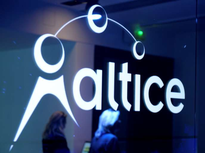 A Paris, le 21 mars, lors d'une conférence de presse d'Altice.