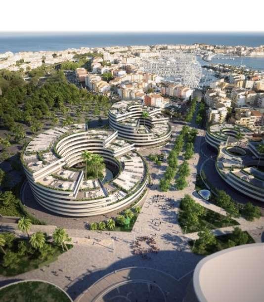 A la place d'un ancien parking, le projet baptisé Iconic devrait comprendre des immeubles d'habitation,un palais des congrès, un nouveau casino et un hôtel 4 étoiles.