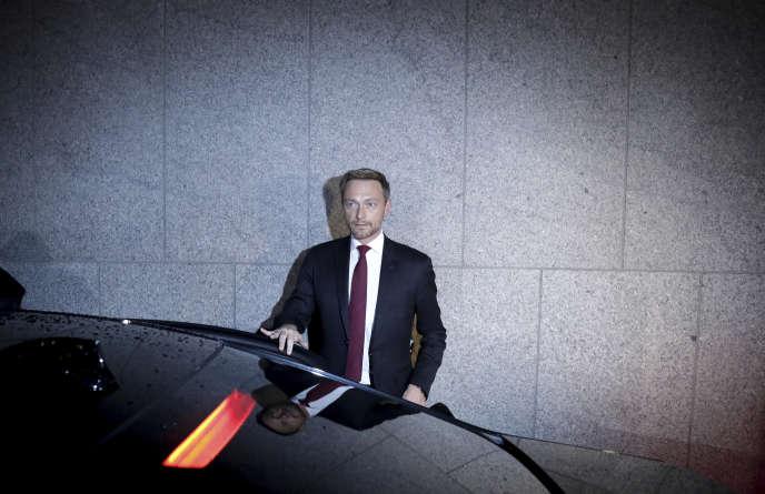 Christian Lindner, le dirigeant du Parti libéral-démocrate, à Berlin, le 19 novembre.