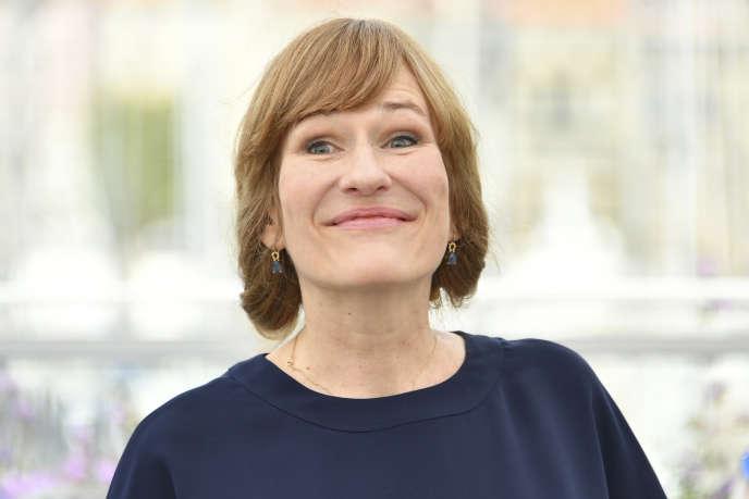 La réalisatrice Valeska Grisebach lors de la projection de son film« Western» au 70e Festival de Cannes, en mai 2017.