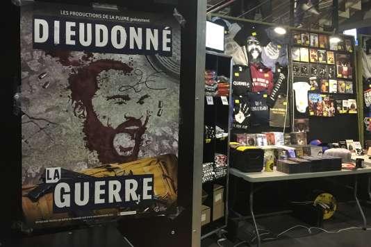 L'affiche du spectacle de Dieudonné, « La Guerre», présenté sur la scène du Dôme, à Marseille.