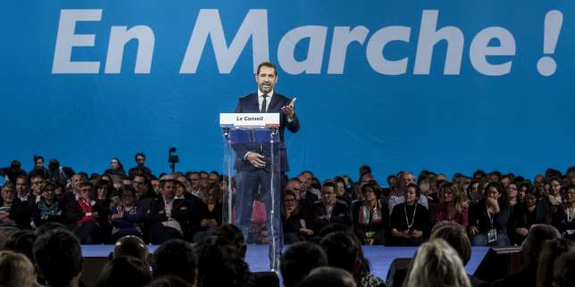 Christophe Castaner élu à la tête de La Republique en marche, àLyon le 18 novembre.