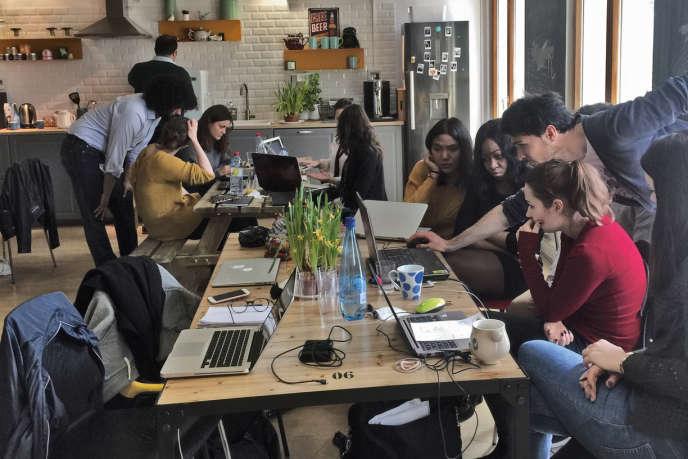 L'Ile-de-France souhaite que les start-up se saisissent des données régionales disponibles en open data, pour concevoir de nouveaux «services intelligents». Ici les locaux de l'entreprise parisienne Dataiku, qui modélise des données.