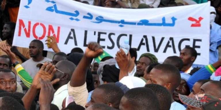 Manifestation contre l'esclavage, à Nouakchott, en Mauritanie, le 29 avril 2015.