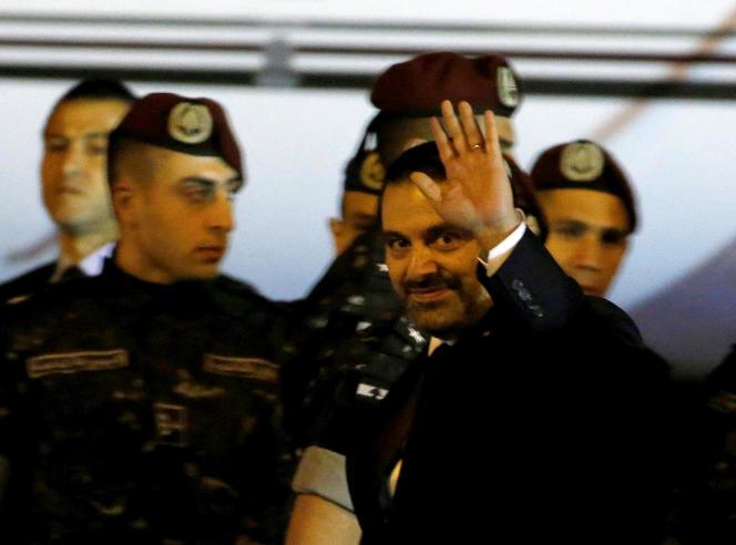 Le premier ministre libanais démissionaire, Saad Hariri, lors de son retour à Beyrouth, le 21 novembre.
