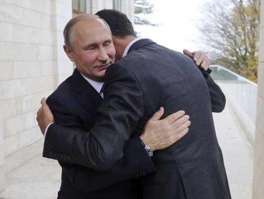 Vladimir Poutine et Bachar Al-Assad à Sotchi, le 20 novembre.