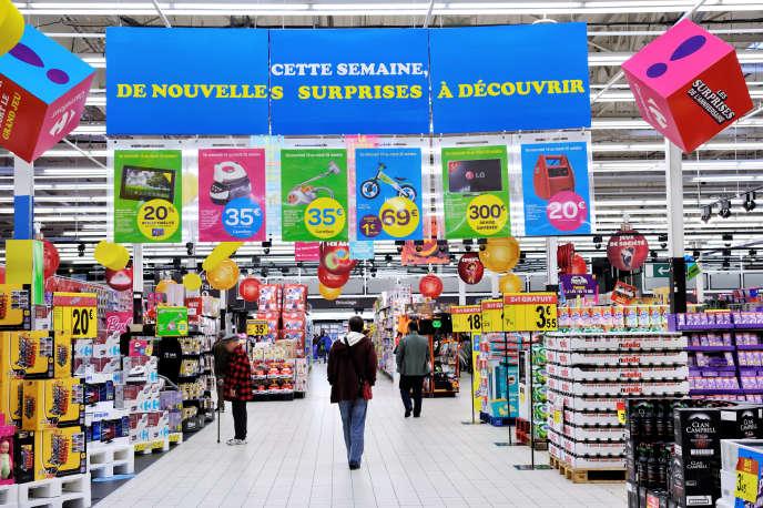 Dans un magasin Carrefour, aux Ulis (Essonne), en 2013.