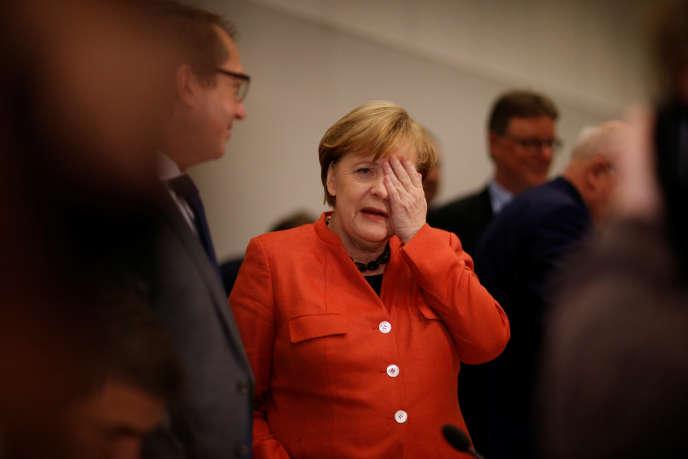 Angela Merkel, à Berlin, le 20 novembre.