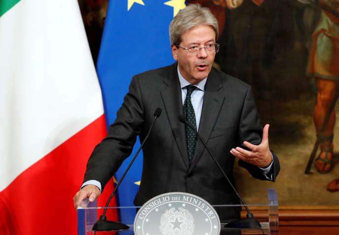 Le président du Conseil des ministres italien, Paolo Gentiloni, à Rome, le 21 novembre.