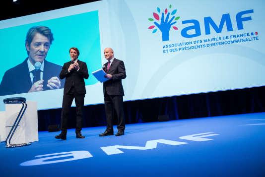 Le président de l'Association des maires de France, François Baroin, le 21 novembre 2017.