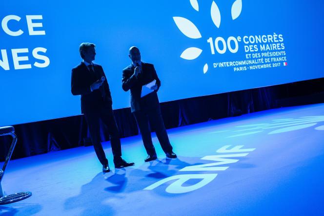 Francois Baroin, le président de l'Association des maires de France lors du Congrès des maires de France, le 21 novembe à Paris.