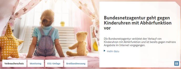 Le site du régulateur du Web allemand.