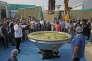 Le plus grand plat de khichdi au monde (918 kg), entré au livre Guinness des records, à New Delhi (Inde), le 4 novembre.