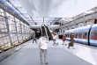 Image d'artiste représentant la gare du Charles-de-Gaulle Express à Roissy.