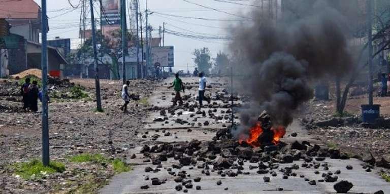 Manifestation à Goma, en République démocratique du Congo, contre le maintien au pouvoir de Joseph Kabila, en mai 2016.