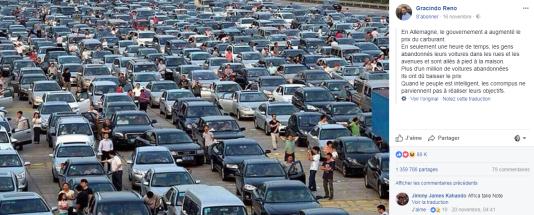 La supposée révolte des automobilistes allemands était en fait un embouteillage chinois.