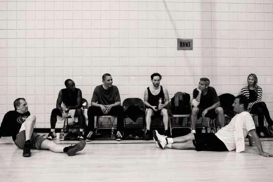Après un match de basket en compagnie de Barack Obama et d'autres acteurs, en novembre 2012 à LosAngeles.
