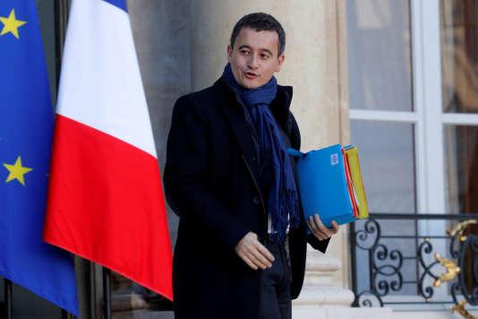 Gerald Darmanin, le ministre de l'action et des comptes publics, devant le palais de l'Elysée, à Paris, le 22 novembre.