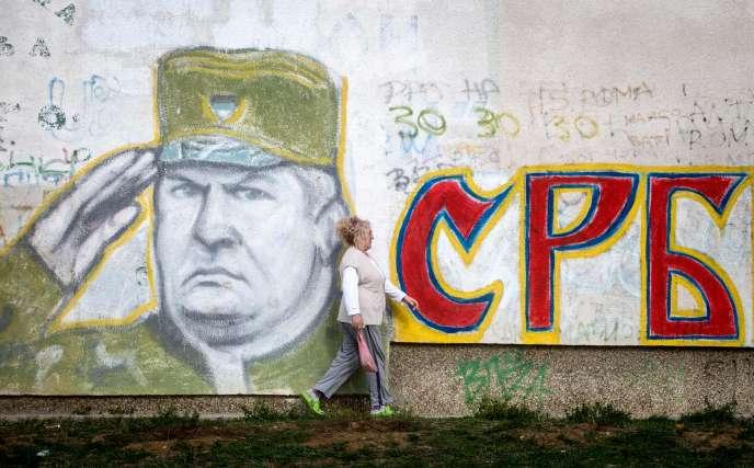 Graffiti représentant Ratko Mladic, à Belgrade.