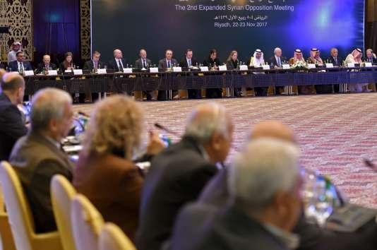 150 opposants syriens étaient réunis à Riyad (Arabie saoudite) du 22 au 24 novembre 2017.