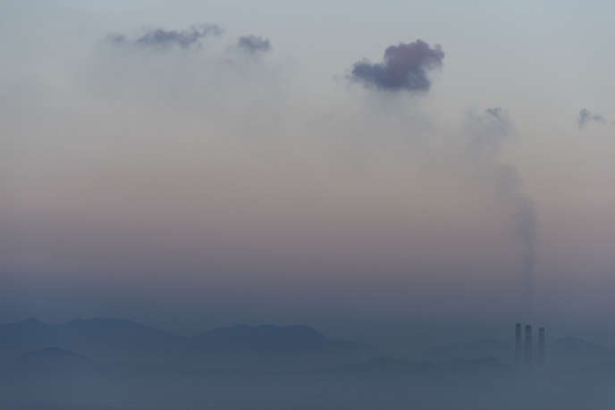 Pollution en Chine, en février 2017.
