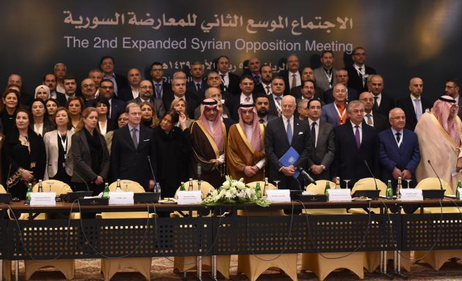 A l'ouverture de la conférence sur le dossier syrien, àRiyad, le 22 novembre.