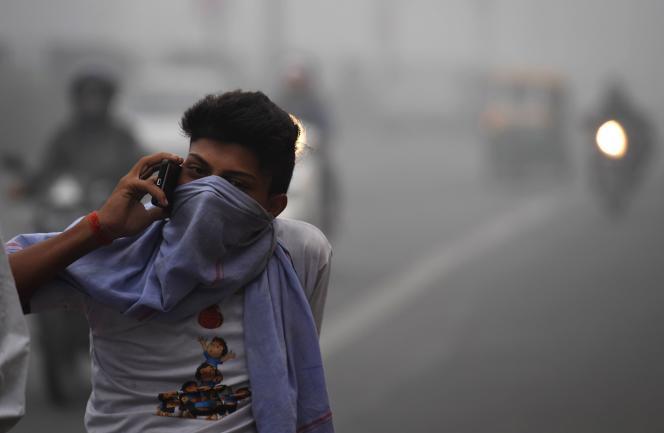 Pollution atmosphérique à New Delhi (Inde), le 8 novembre.