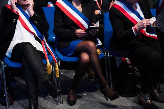 Ouverture du 100e Congrès de l'Association des Maires de France au parc des exposition de la Porte de Versailles de Paris, le 21 novembre.