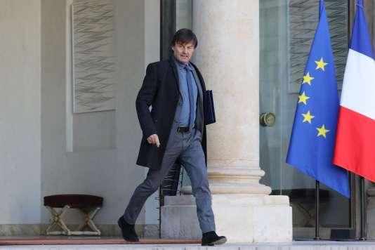 Le ministre de la transition écologique Nicolas Hulot, le 22 novembre à l'Elysée.