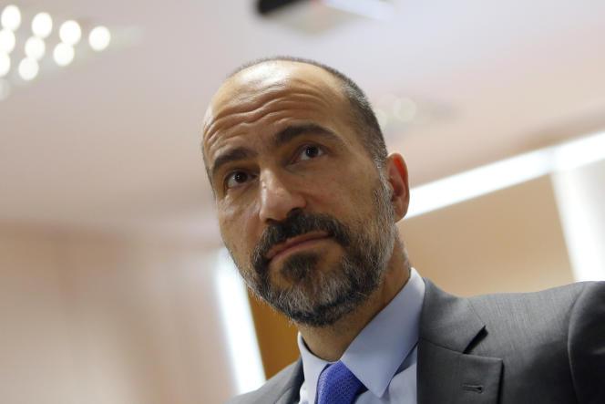 Dara Khosrowshahi, à Brasilia (Brésil), le 31 octobre. Le directeur général d'Uber a admis que la société a subi un piratage massif de données en octobre 2016.
